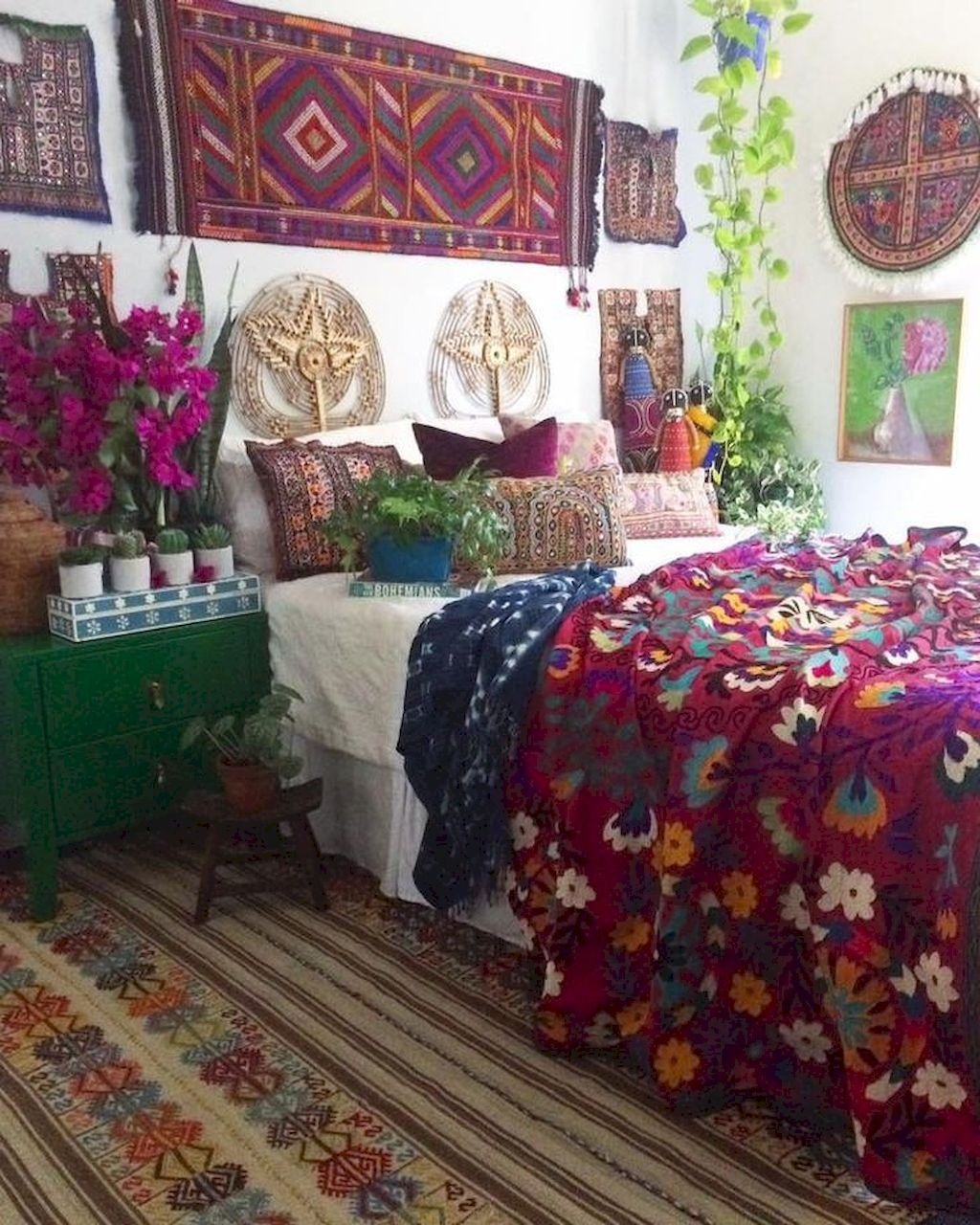 90 DIY Bohemian Bedroom Decor Ideas | Idée déco maison ...