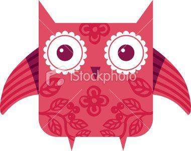 stock-illustration-20437420-pink-owl.jpg (380×301)