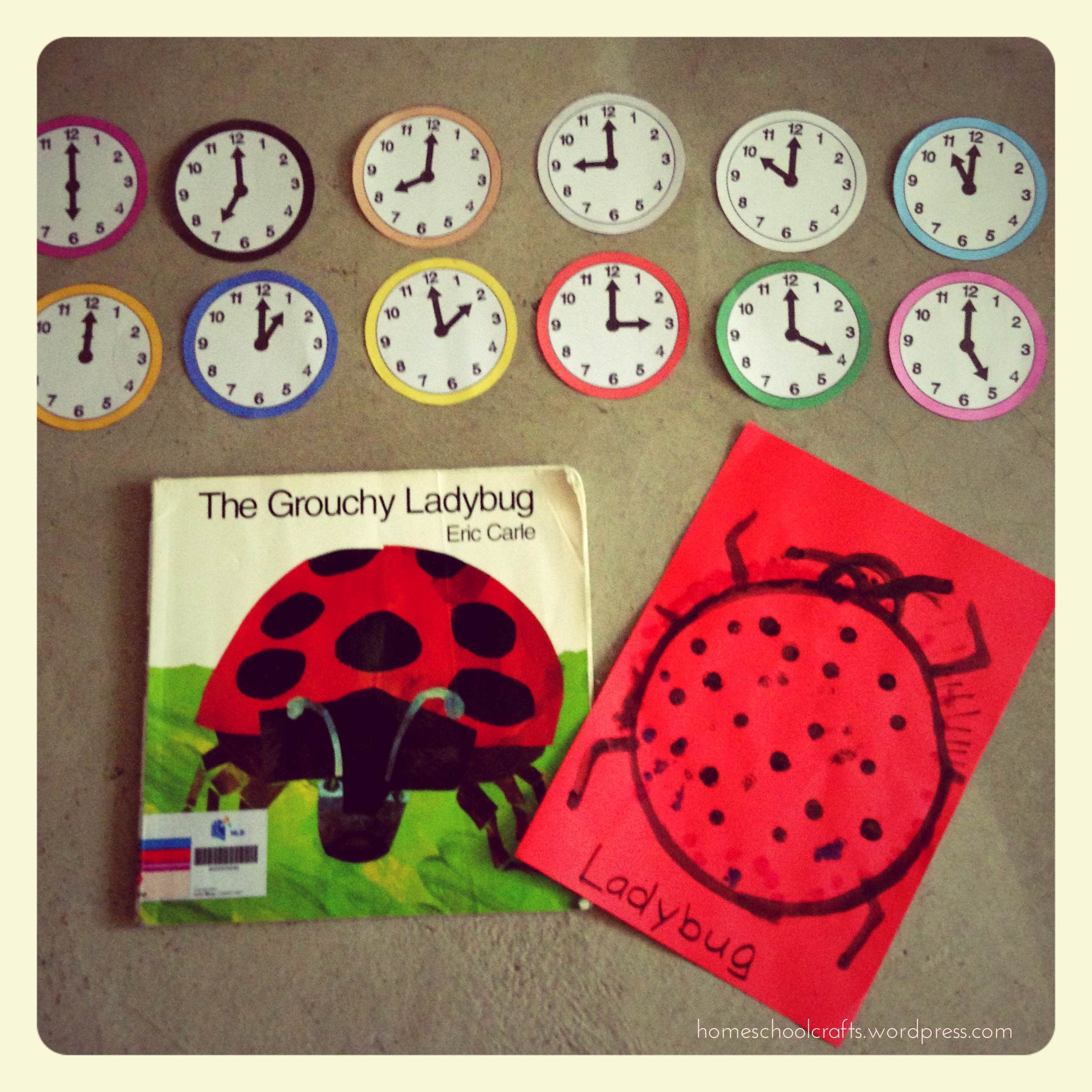 The Grouchy Ladybug Activity - Telling the Time | The Grouchy Lady ...