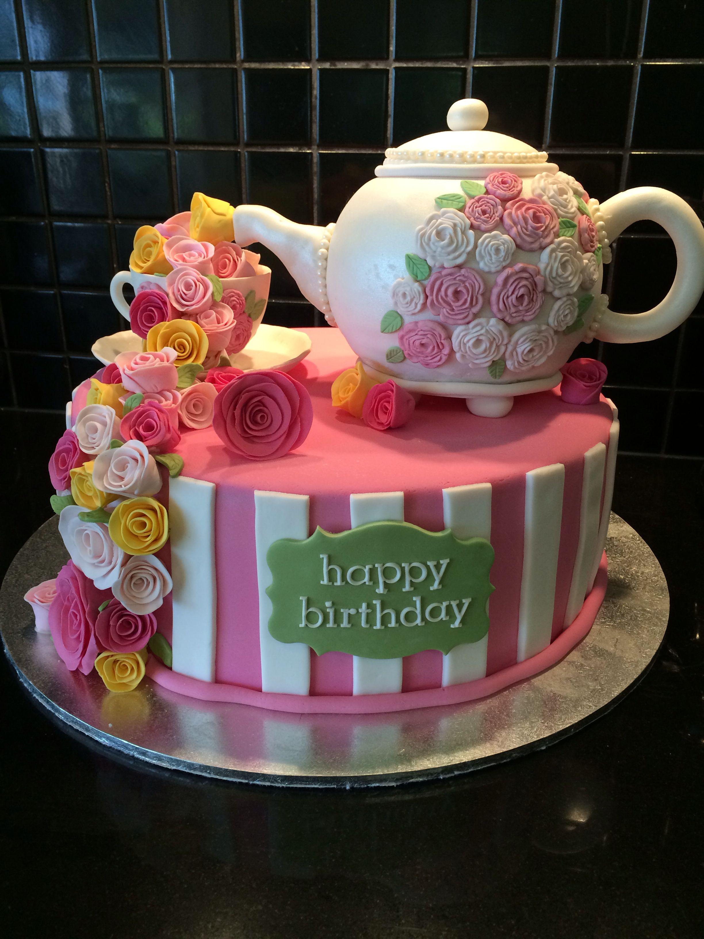 Teapot Cake For High Tea Birthday Cakes Pinterest Teapot Cake