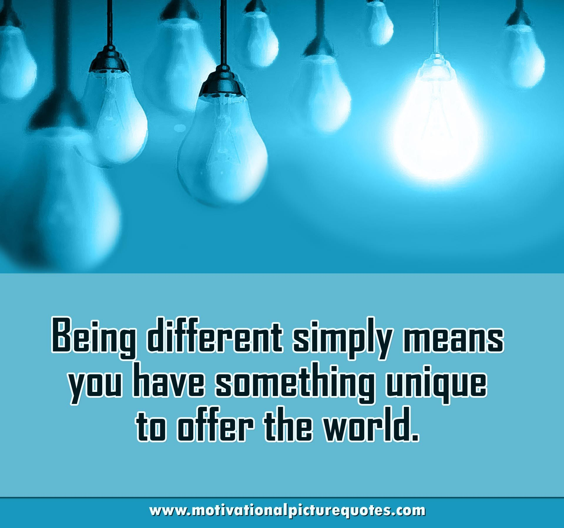 Inspiring Being Unique Quotes Quotes About Being Different