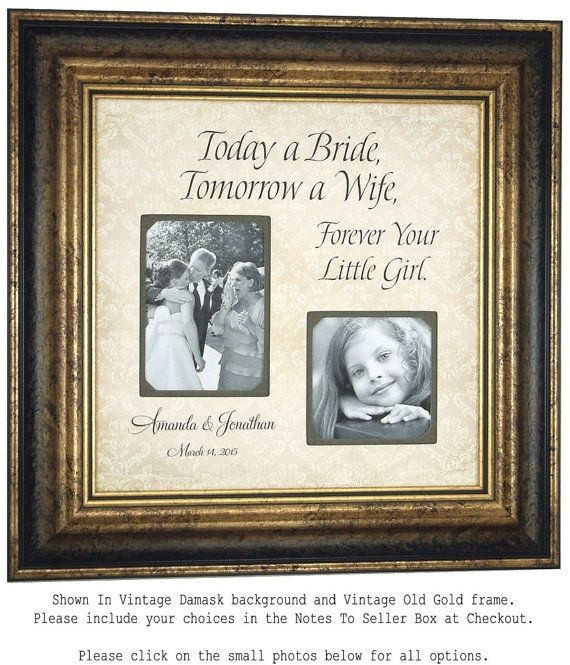 Personalized Father Of The Bride Picture Frame Gift Daughter Dad Daddy Pas