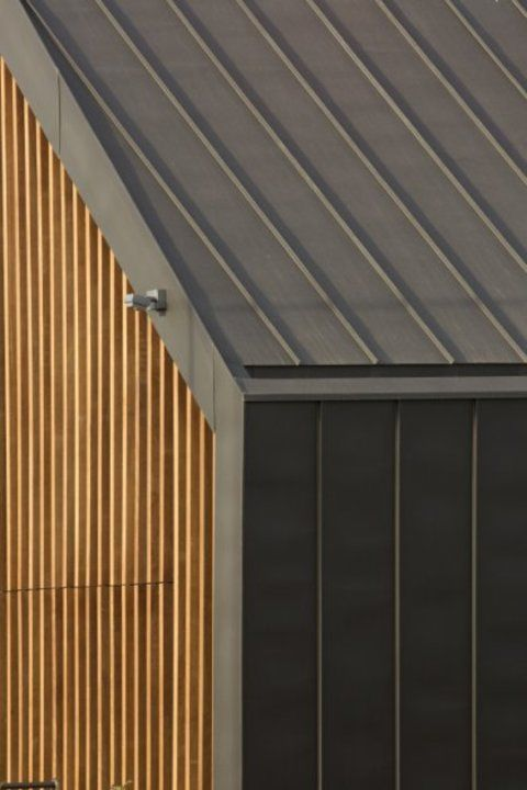 Roofing Structural Roof From Vmzinc House Cladding Roof Architecture Roof Cladding