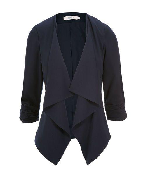 Woven Drape Front Blazer
