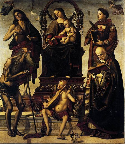 Luca Signorelli | Madonna and Child with Saints, panel, Museo Nazionale di Castel Sant'Angelo, Roma