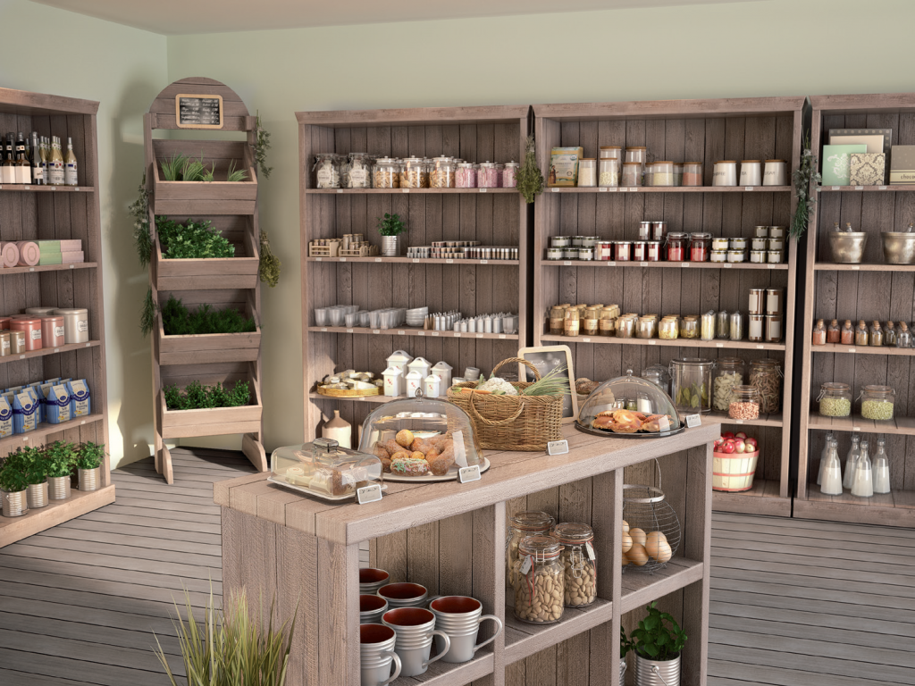 Tienes una tienda de productos de alimentaci n encuentra for Tiendas muebles minimalistas