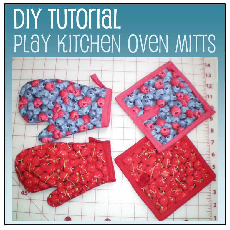 Tutorial: Play kitchen oven mitts and pot holders