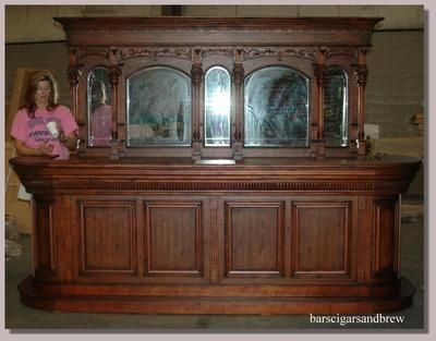 ideas for an old fashion saloon bar | Antique Home Bar Font Back ...