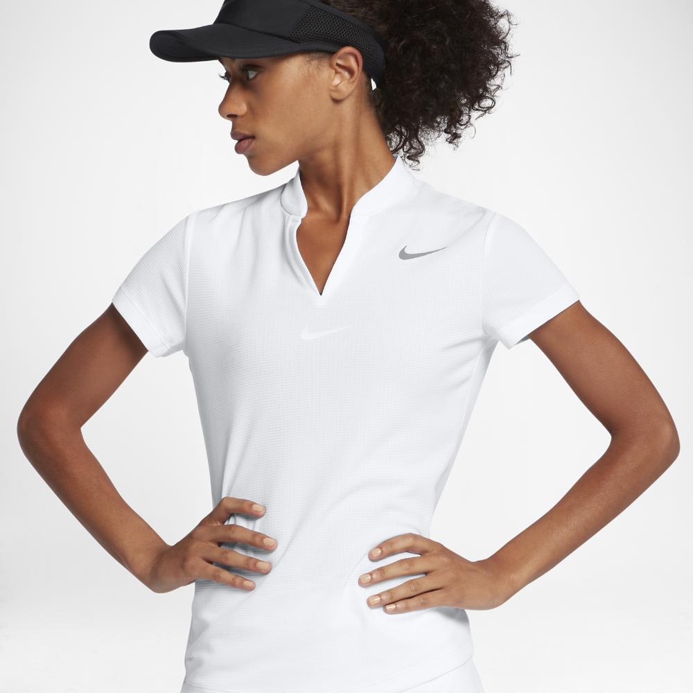b86568f7fb8 Nike AeroReact Women s Golf Polo Shirt Size Medium (White ...
