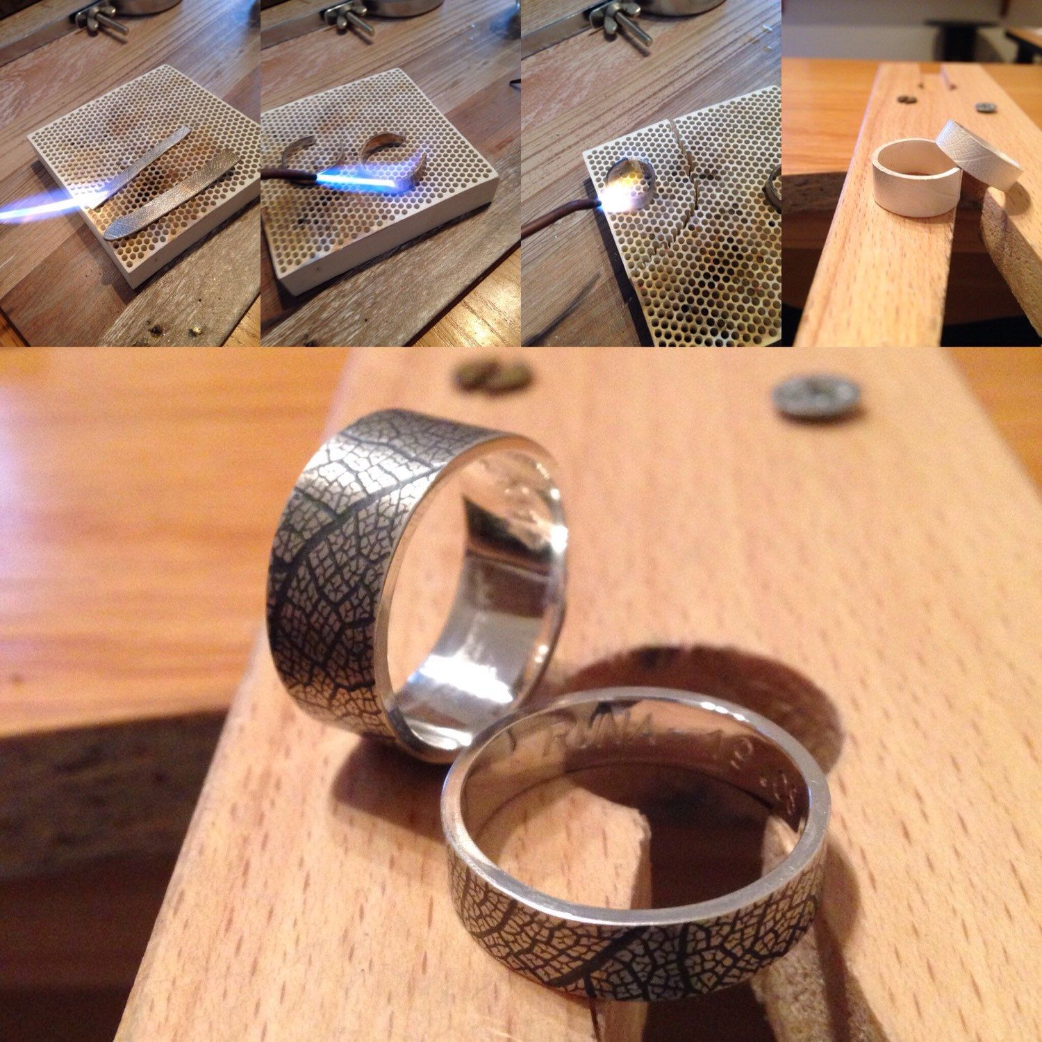Marvelous Anniversary Wedding Bands In Different Stages Of The Handcrafted Process.