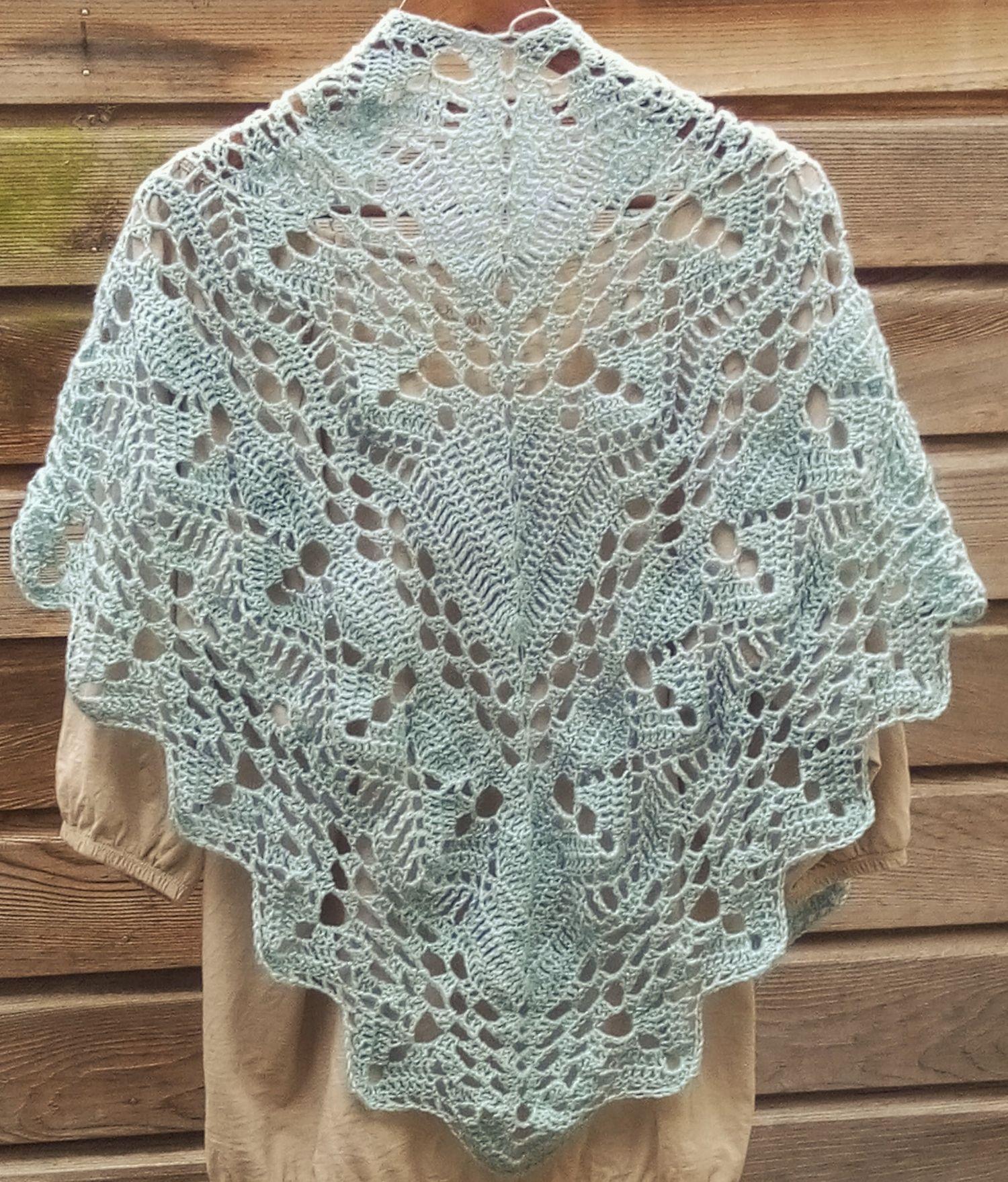 Calypso Shawl Met 600 M Alize Sal Simli Crochet Scarfs Shawls