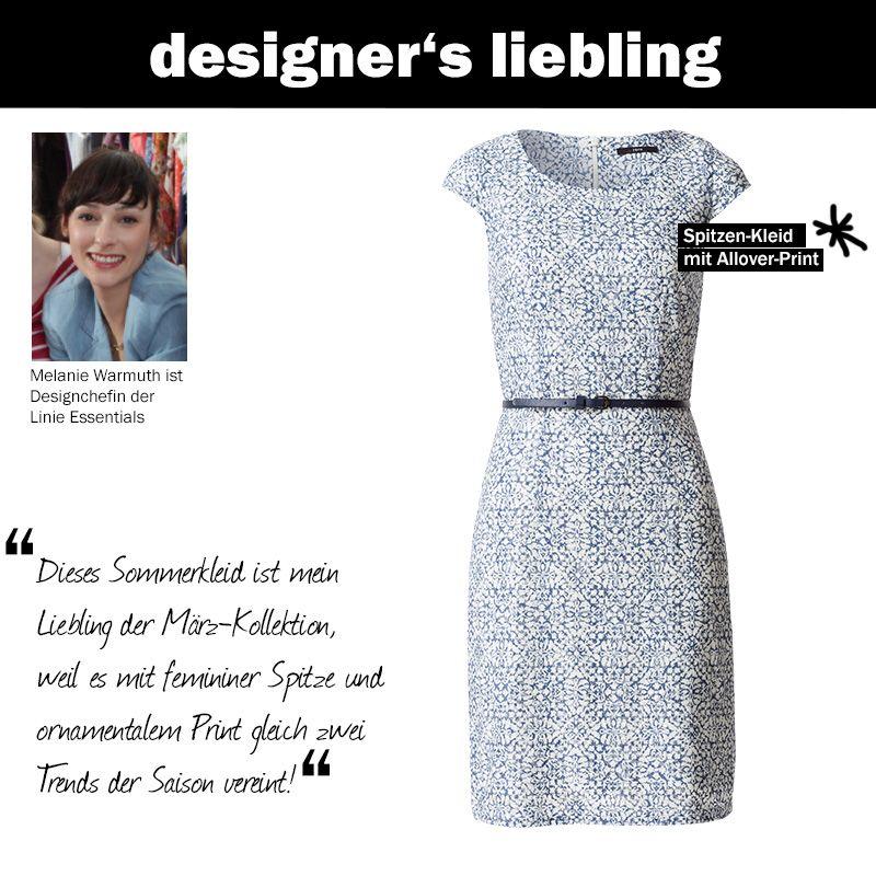 Der März-Liebling unserer Designchefin Melanie #zerofashion #kleid #spitze