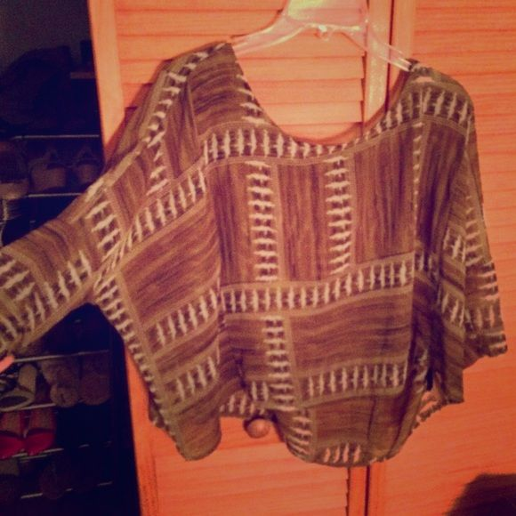 "Selling this ""Aztec Print Chiffon Poncho"" in my Poshmark closet! My username is: giftsfromgabxo. #shopmycloset #poshmark #fashion #shopping #style #forsale #Forever 21 #Tops"