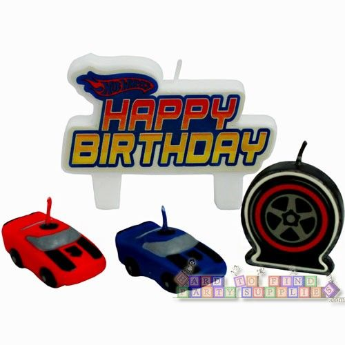 Hot Wheels Speed City Mini Candle Set 4pc Hard To Find