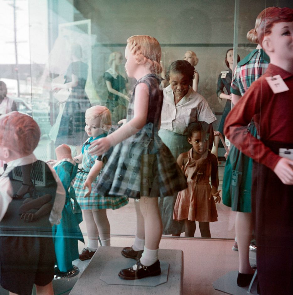 Ondria Tanner and Her Grandmother Window-shopping, Mobile, Alabama, 1956 @ The Gordon Parks Foundation