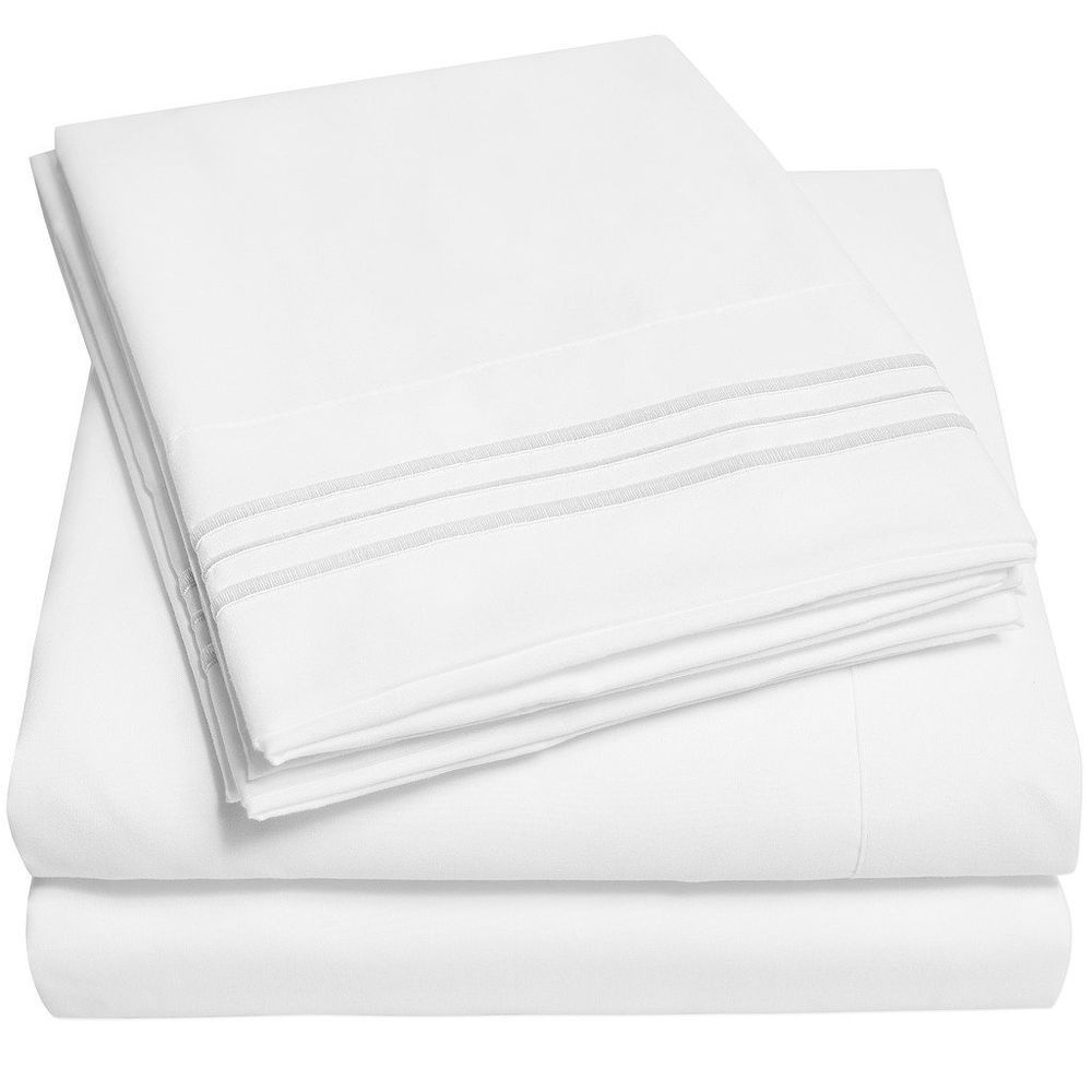 new hotel home collection extra soft king sheets set white luxury