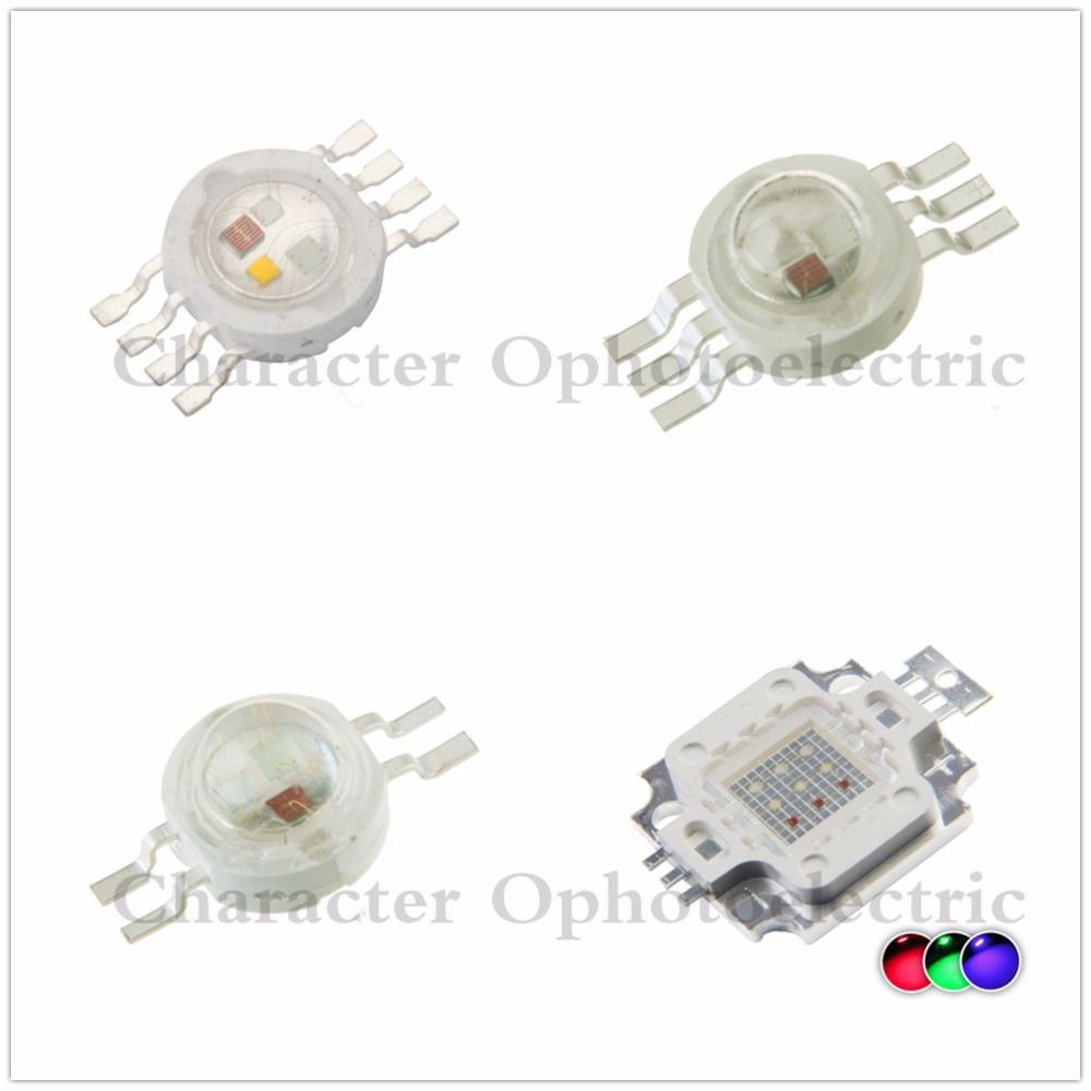 High Power Led Lamp Light Bulbs Rgb Rgbw Chip 3w 10w 20w 30w 50w 100w Red Green Blue White Diode 3 10 20 30 50 100 W W Lamp Light Power Led Light Accessories