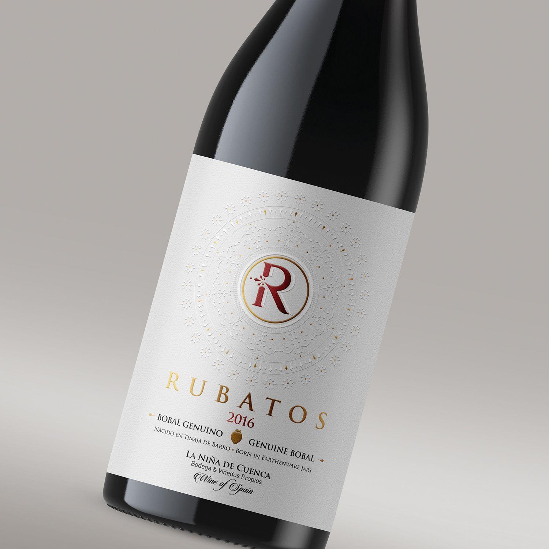 """Bodega La Niña de Cuenca nos confía la realización de la imagen de su  primer vino """"Rubatos"""". Diseñamos el Logo de la marca de Vino y la  creatividad de la ..."""
