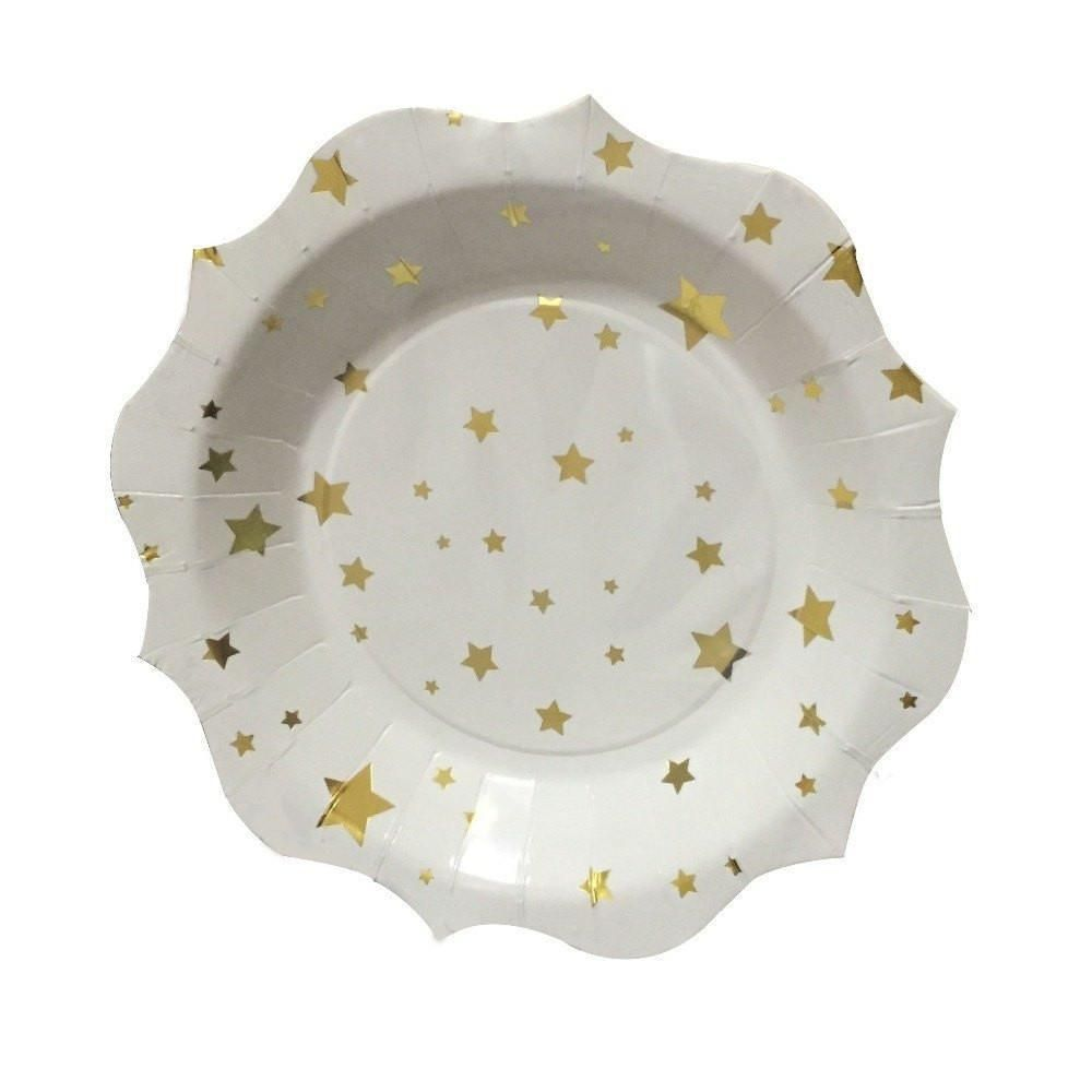 Gold Foil Star Paper Plate  sc 1 st  Pinterest & Gold Foil Star Paper Plate | Products