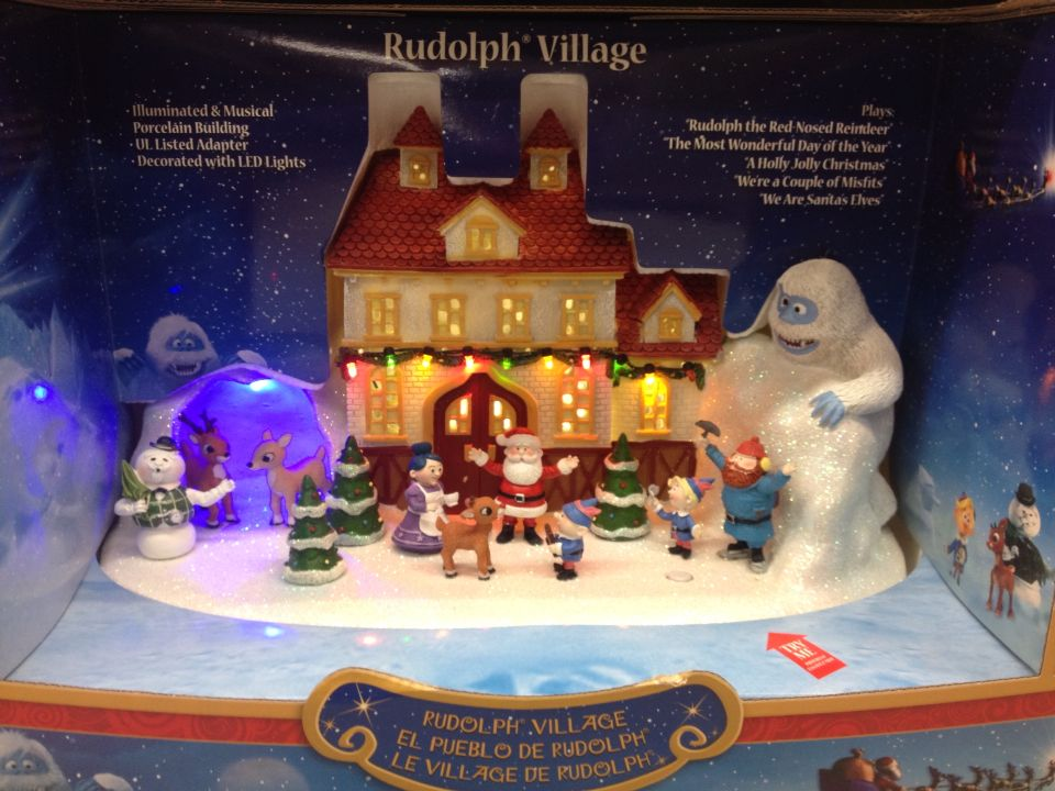 Rudolph Village at Kmart Christmas decorations