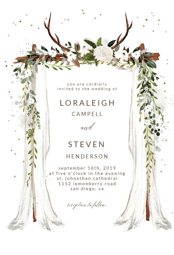 Boho Canopy Invitacion De Boda Gratis Greetings Island Wedding Invitation Templates Floral Wedding Invitation Card Digital Invitations Wedding