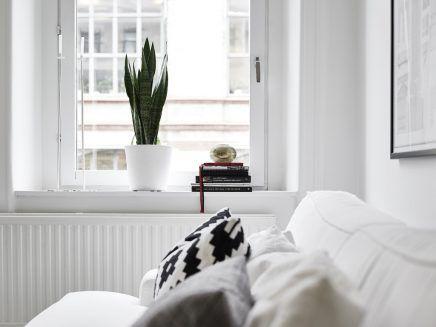 Kleine witte woonkamer met witte meubels - Witte meubels, Meubels en ...