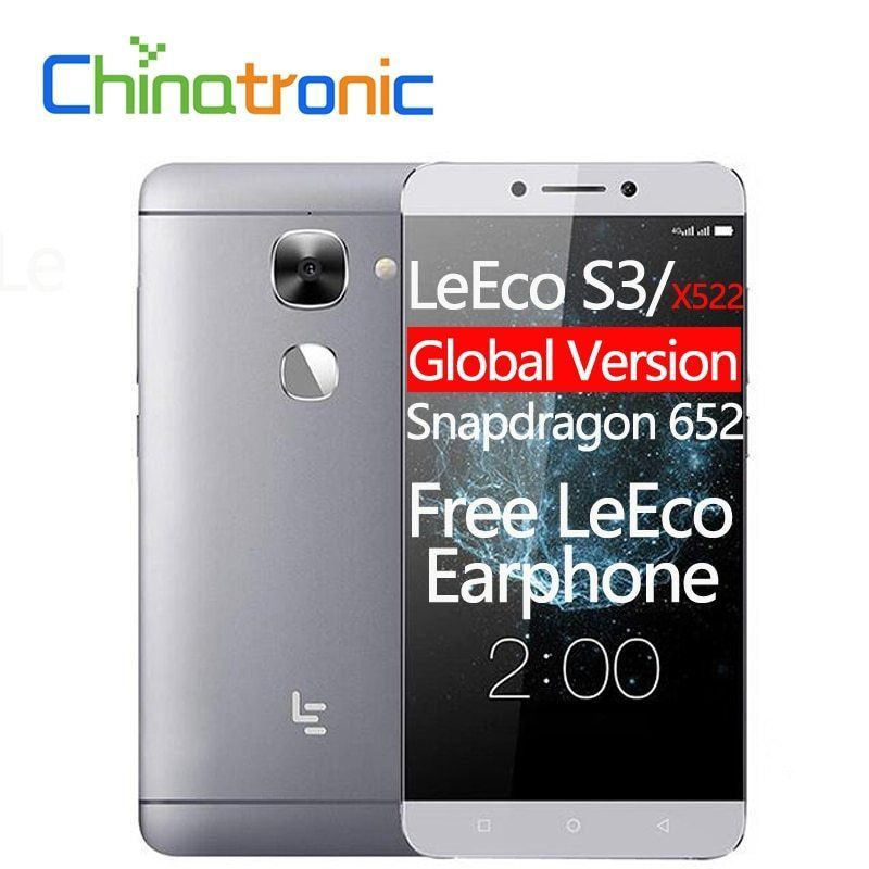 LeEco Le S3 LeTV X522 FDD LTE Mobile Phone Snapdragon 652 Octa Core