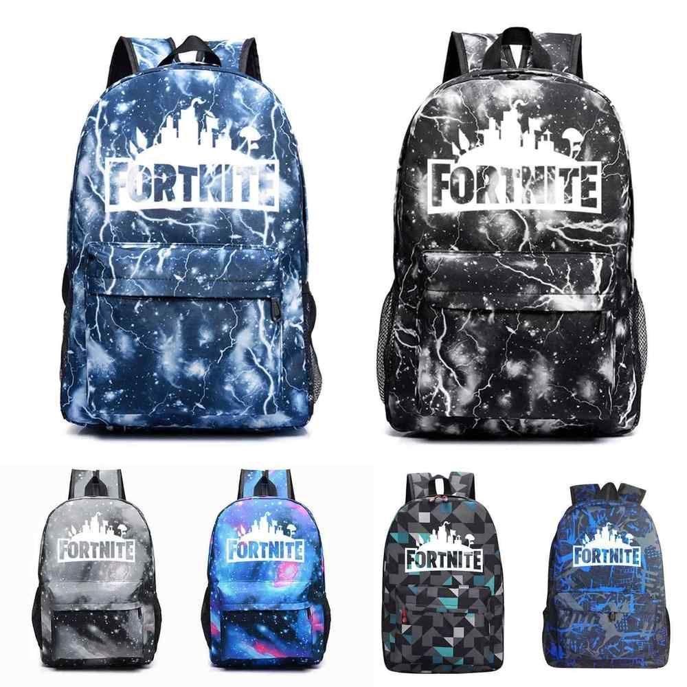 Fortnite Royal Backpack Bag Teenagers Student Night Luminous School Book  Bags 9d495a915dc7f