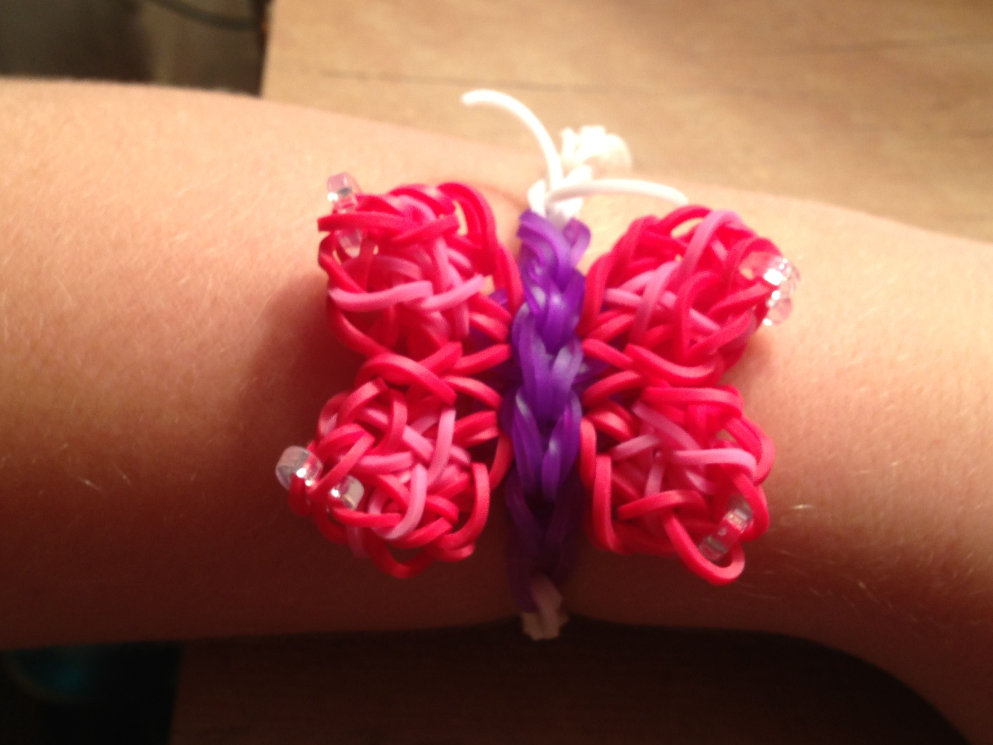 pink and blue store hibiscus flower purple bracelet