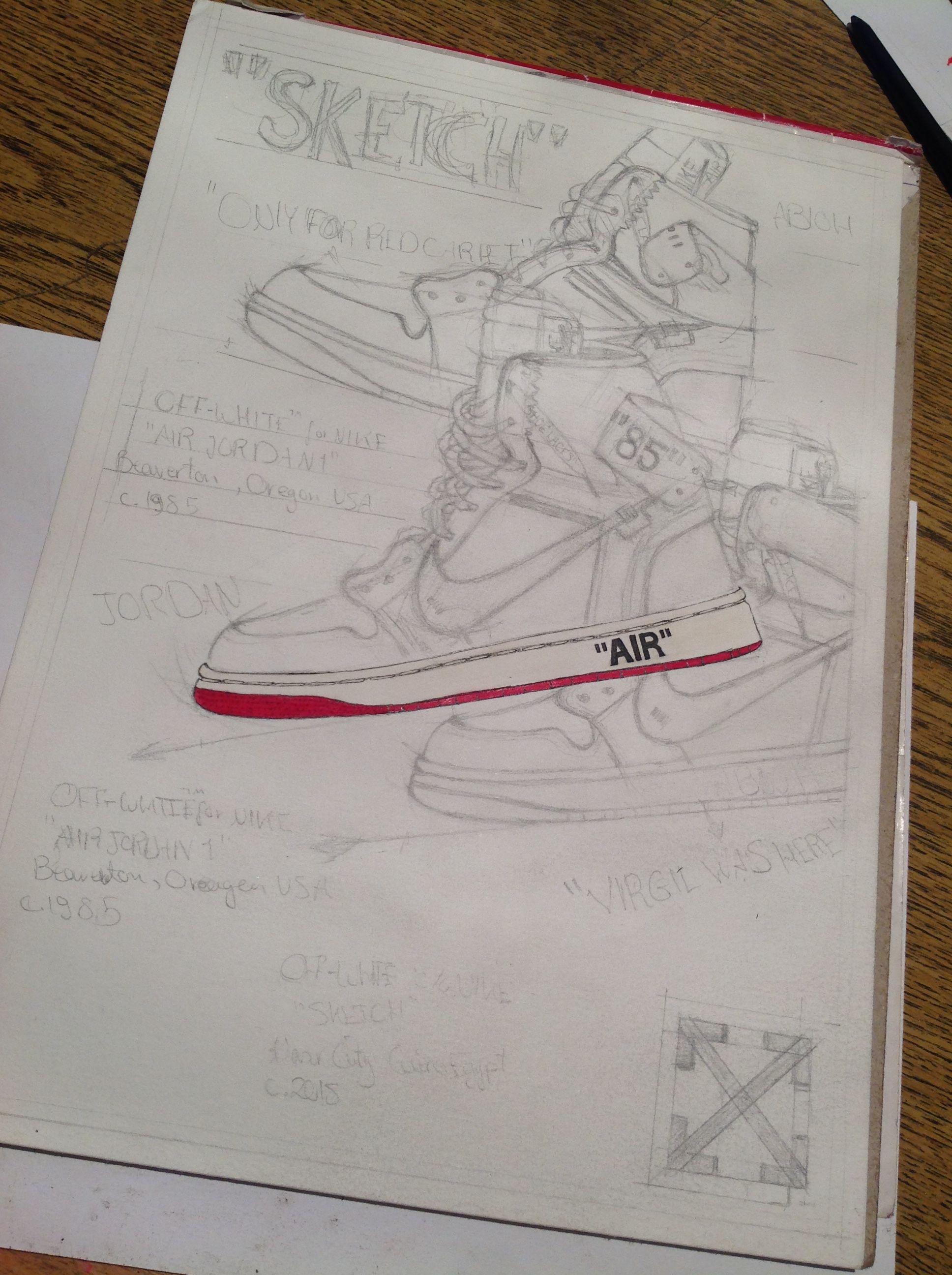 Air Jordan 1 X Off White Chicago White Unc First