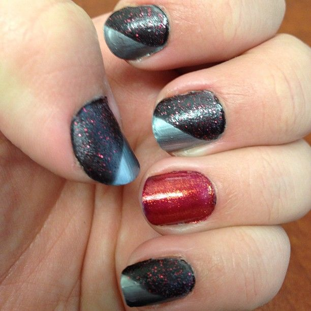 #OPI fest: Skyfall's Moonraker, Mariah Carey Liquid Sand, and Indulgence. Photo by bekiweki #nails #polish #color #red