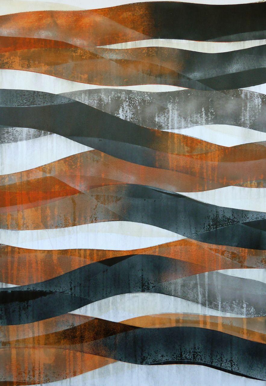 Doug Glovaski |glovaskicom-Stream #7, acrylic on paper, 44x30 (2011)