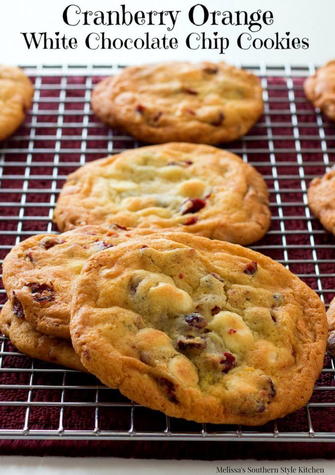 Cranberry Orange White Chocolate Chip Cookies Thes