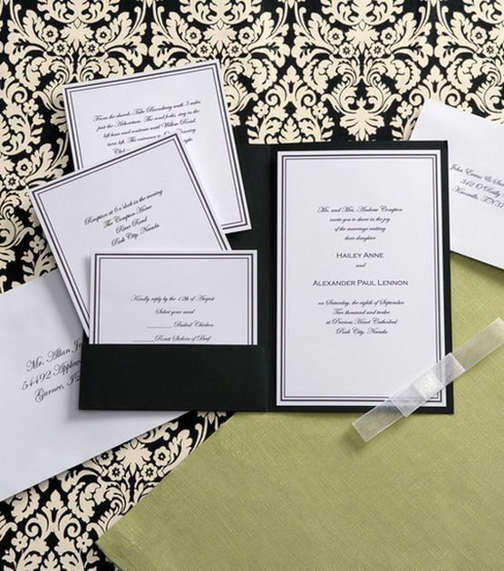 Wilton Elegance Invitation Kit Black White At Joann Com Wedding Invitation Etiquette Wedding Invitation Kits Wedding Invitations Diy