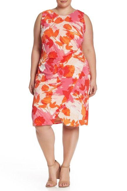 Side Drape Jersey Crepe Dress (Plus Size) in 2019   Dresses ...