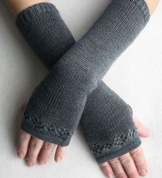 Photo of Arm warmers with ajour pattern made of merino wool from estema on DaWanda.com
