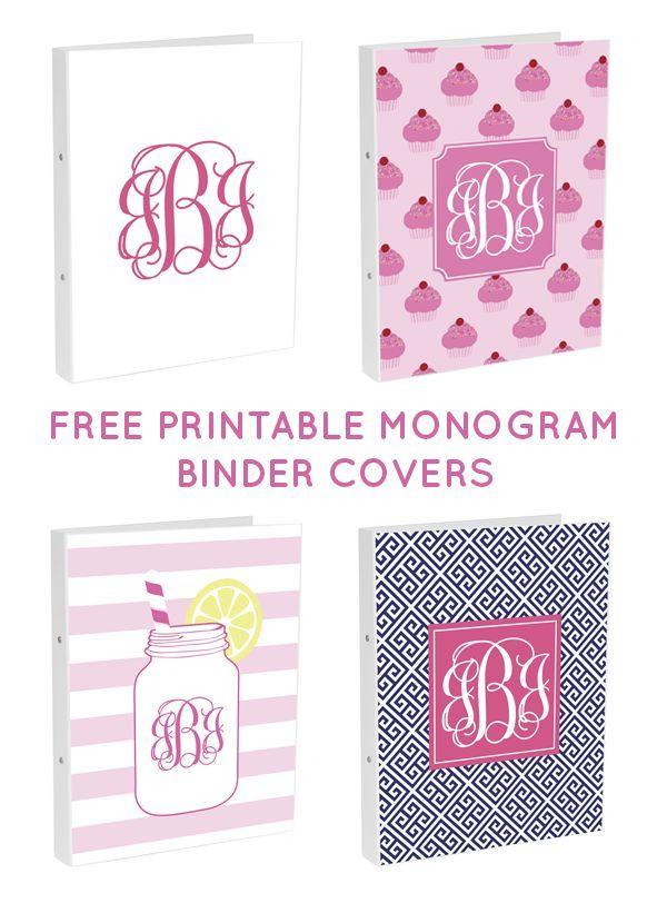 free printable monogram binder covers from printable monogram