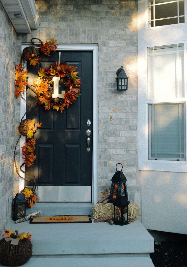 Simple Fall Front Door Decor Ideas Simple