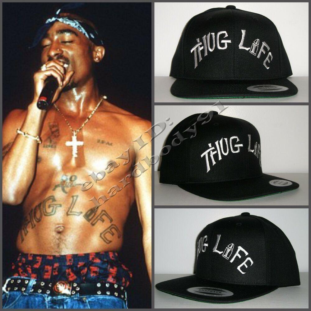 Details about 2Pac Tupac Thug Life Tattoo Replica Black