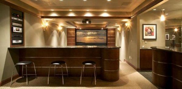 Extravagant Home Bar Designs Ideas Futuristic To Modern : Sleek Home Bar  Setting Pefect For The