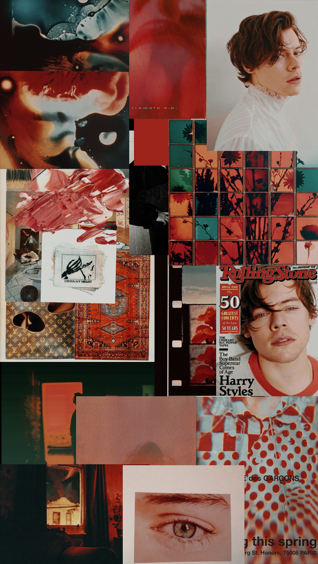 Harry Styles Wallpaper Aesthetic Red