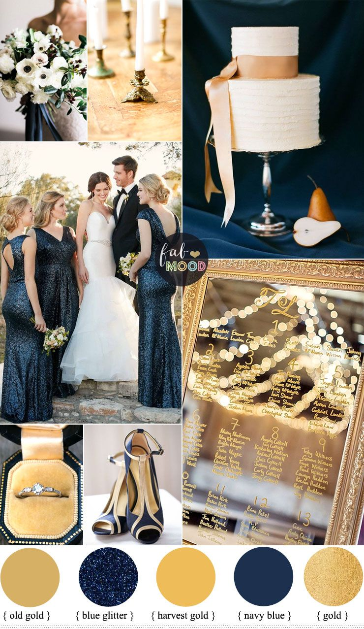 Gold And Navy Blue Wedding Colour Palette Blue Gold Wedding Wedding Color Palette Dark Blue Wedding