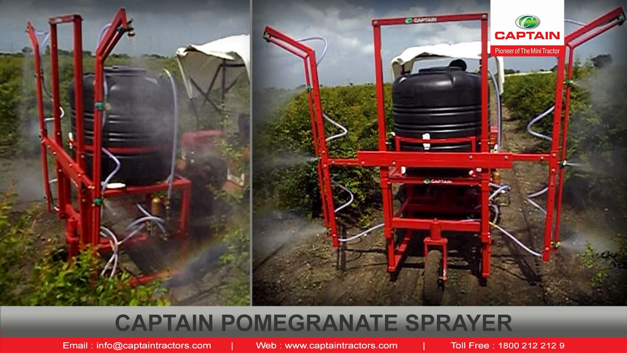 Agro chemical Sprayer with Mini Tractor for pomegranate and