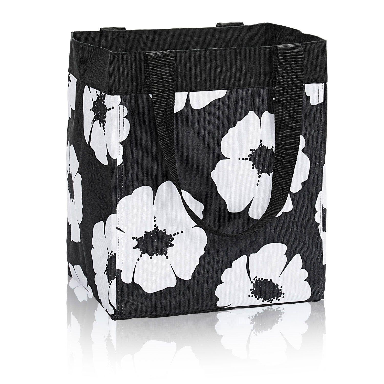 Grey w// White Dot and Black and White 31 Thirty One Crossbody Bag Grey poppy