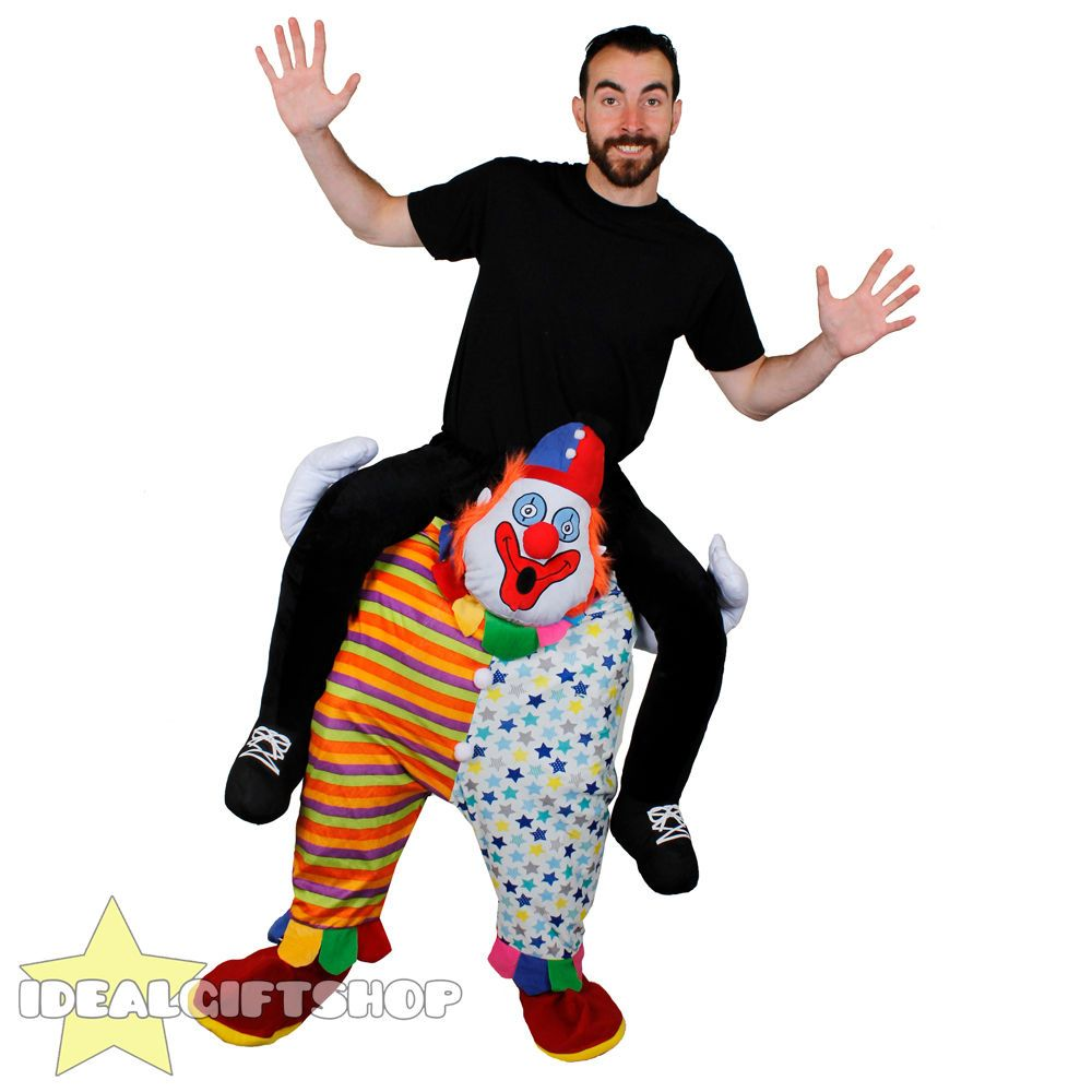 CLOWN PICK ME UP FANCY DRESS RIDE ON PIGGY BACK FUNNY NOVELTY CIRCUS COSTUME
