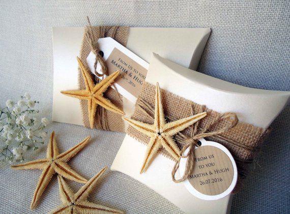 Gift Boxes Wedding Favor Boxes Beach Boxes Party Favor Boxes Pillow