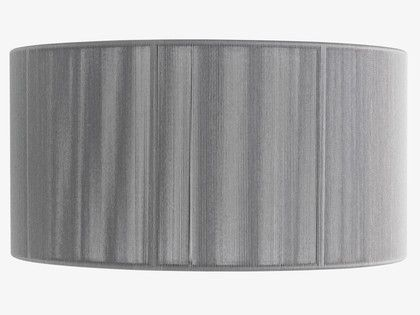 String silver large drum lampshade habitat