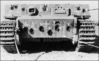 The hull after British firing tests.