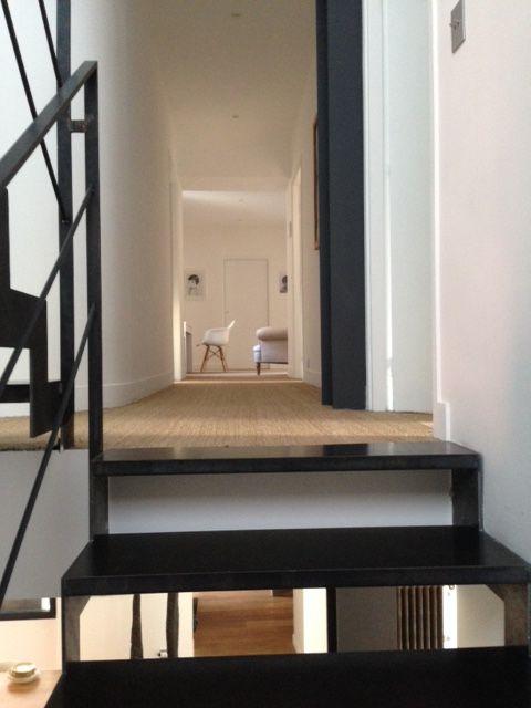 Escalier 2 4 Tournants Contemporain En Acier Brut Esca Droit Avec