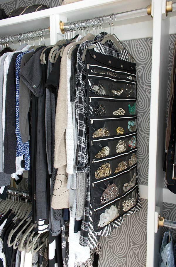 My Five Favorite Ways to Stay Organized Hanging jewelry organizer